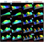 Simultaneously imaging the surface stress and several vibration modes